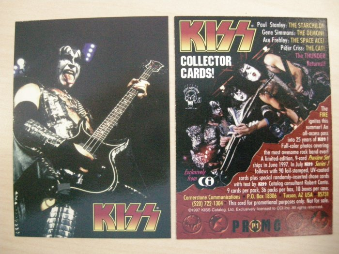KISS TRADING CARD Series 1 P1 gene simmons pic PROMO