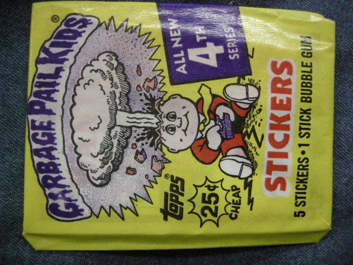 GPK SERIES 4 STICKERS 1986 garbage pail kids bubble gum SEALED PACK!