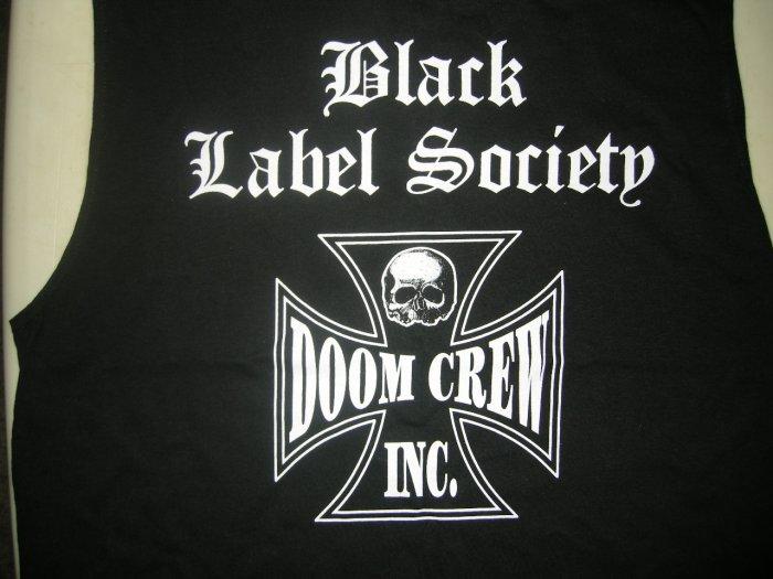 BLACK LABEL SOCIETY SHIRT Doom Crew Inc skull zakk wilde ozzy osbourne tank licensed L NEW!