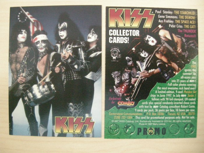 KISS TRADING CARD Series 1 P9 spirit of 76 pic PROMO