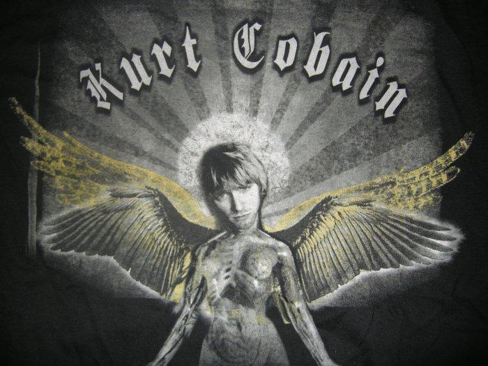 KURT COBAIN SHIRT in utero nirvana angel L NEW!