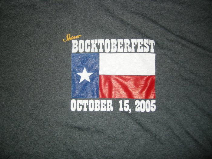 SHINER SHIRT Audioslave Clint Black Good Charlotte Seether bocktoberfest 2005 texas XL STAGE ONLY!