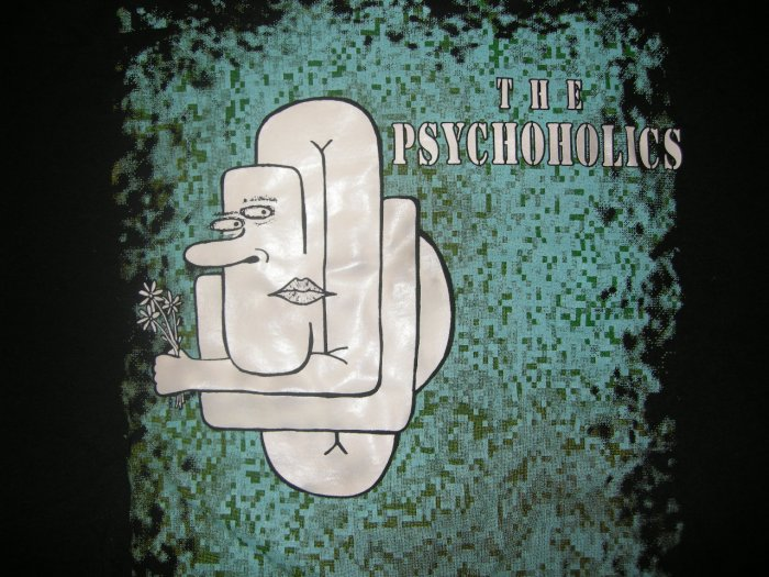 THE PSYCHOHOLICS SHIRT logo san antonio texas XL HTF!