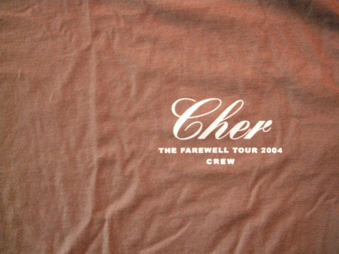 CHER SHIRT the Farewell Tour 2004 XL CREW ONLY!