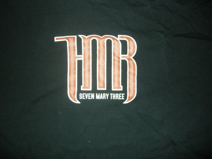SEVEN MARY THREE SHIRT set list 7M3 7 M HTF!