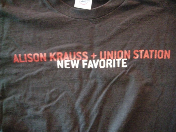 ALISON KRAUSS SHIRT New Favorite Union Station L