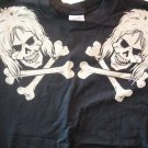 DIRTY PENNY SHIRT skulls logo glam M