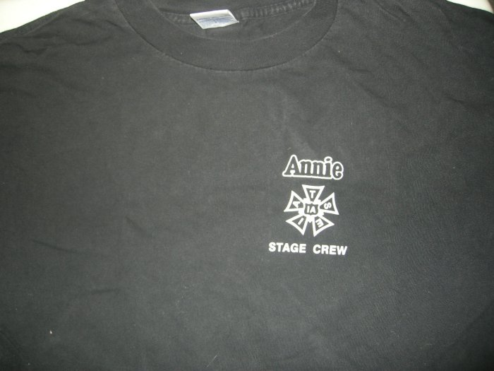 ANNIE SHIRT She's a Drunk and a Liar broadway musical XL STAGE CREW ONLY!