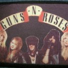 GUNS N ROSES sew-on PATCH color band photo gnr import VINTAGE