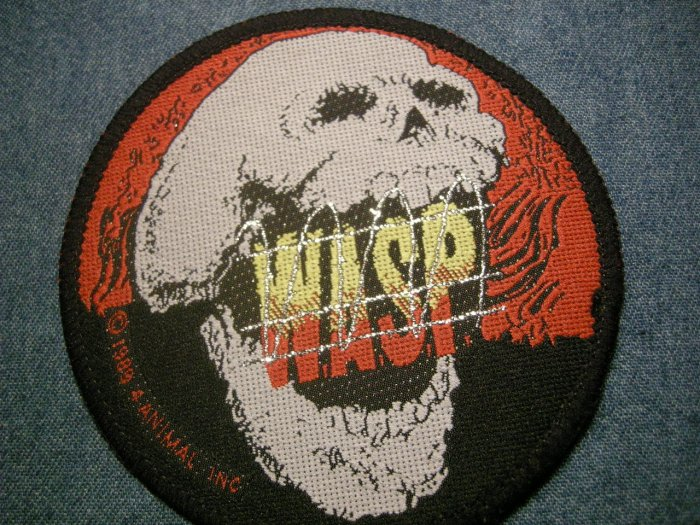 W.A.S.P. sew-on PATCH the Headless Children skull wasp VINTAGE