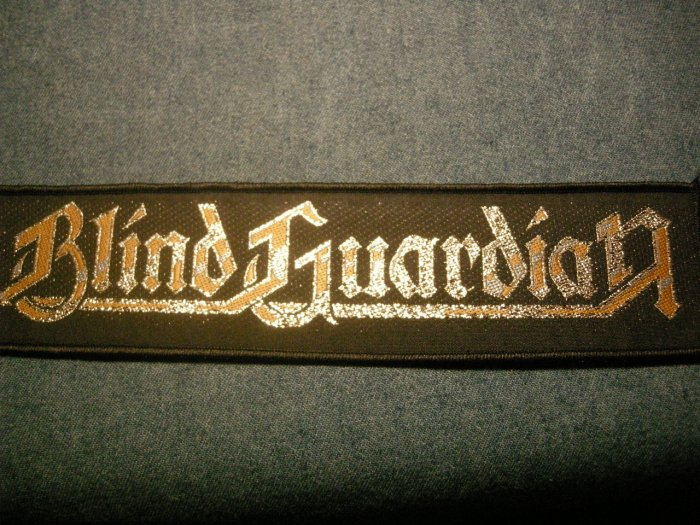 BLIND GUARDIAN sew-on PATCH gold logo strip IMPORT