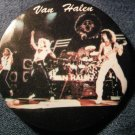 VAN HALEN PINBACK BUTTON color band pic david lee roth VINTAGE 80s!