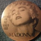 MADONNA PINBACK BUTTON Who's That Girl 1997 Tour VINTAGE
