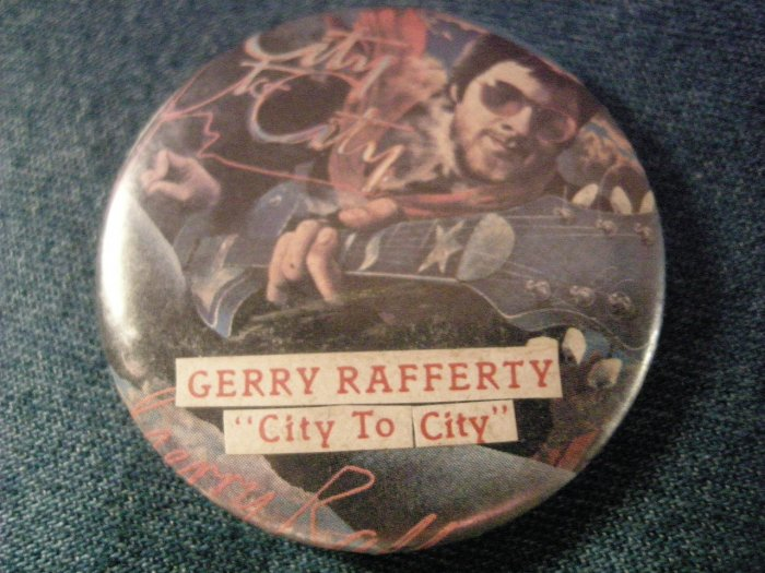GERRY RAFFETY PINBACK BUTTON City to City VINTAGE