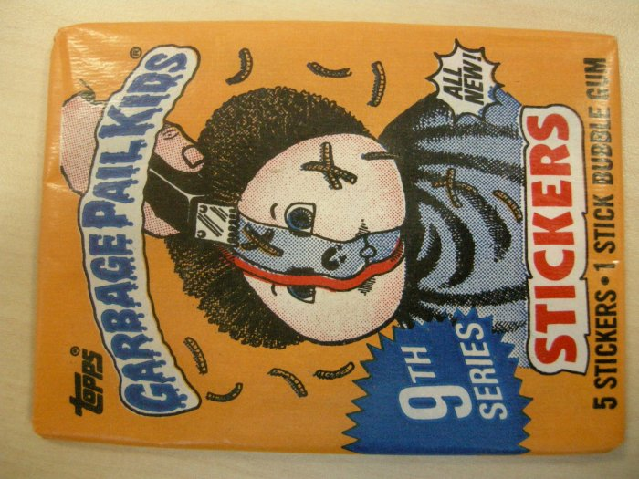 GPK SERIES 9 STICKERS 1987 garbage pail kids bubble gum SEALED PACK!