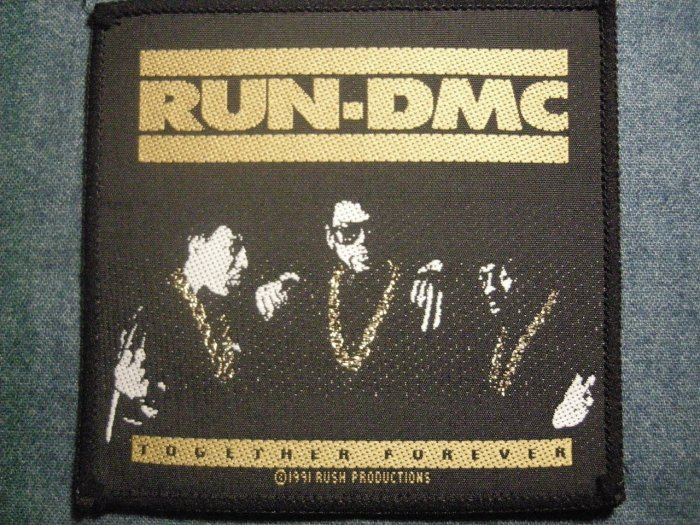 RUN DMC sew-on PATCH Together Forever rap VINTAGE