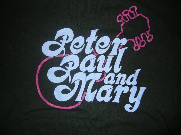PETER PAUL & MARY SHIRT guitar logo XL HTF!