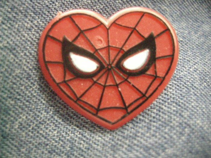 SPIDER-MAN TACK PIN mary jane wedding spiderman heart button PROMO