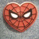 SPIDER-MAN TACK PIN mary jane wedding spiderman heart button PROMO