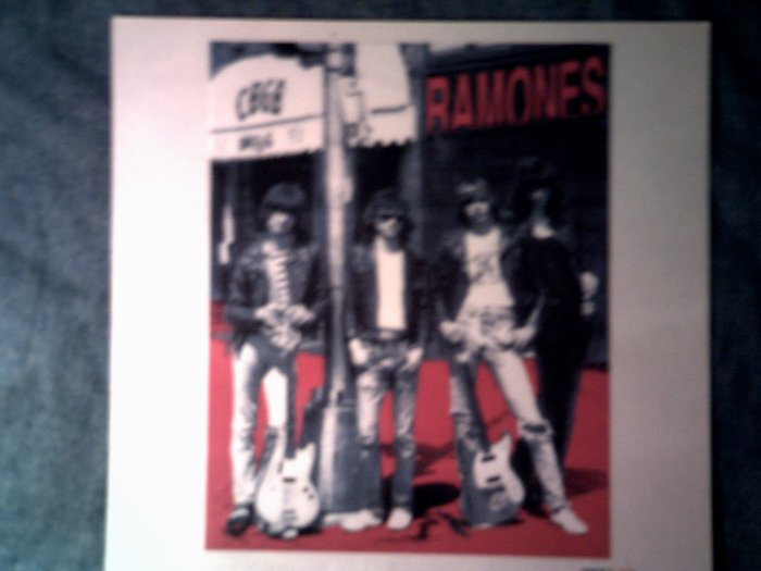 THE RAMONES STICKER group pic cbgb'c punk glossy VINTAGE