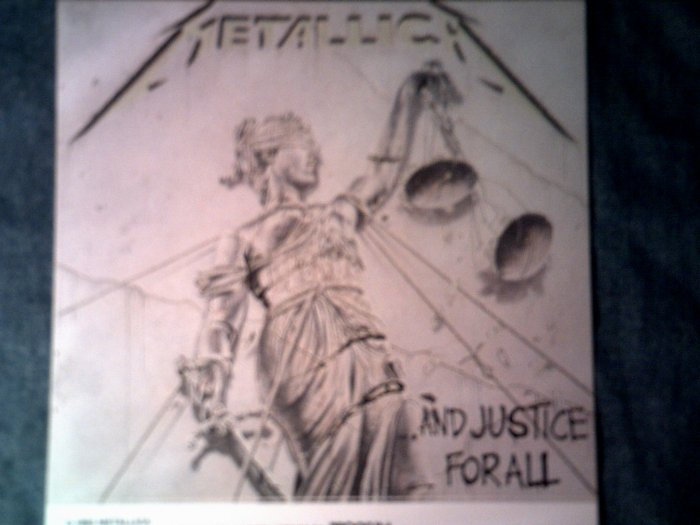 METALLICA STICKER And Justice For All album art VINTAGE
