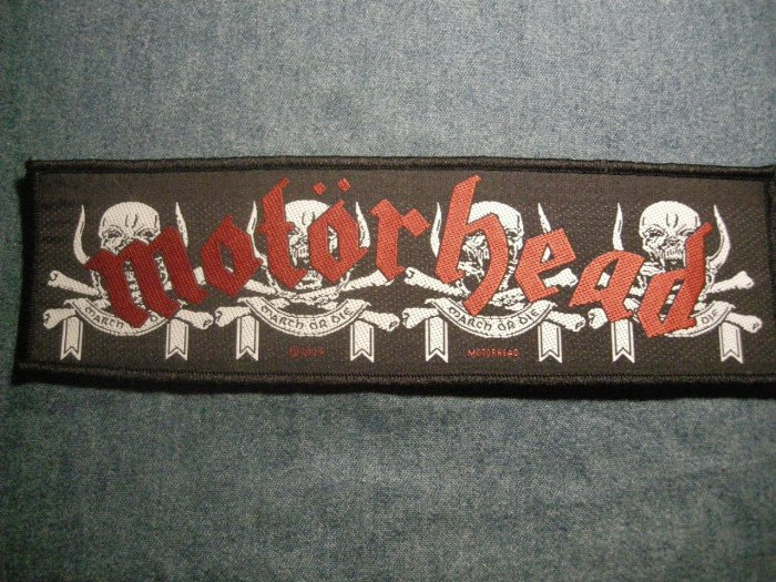 MOTORHEAD sew-on PATCH March or Die strip IMPORT