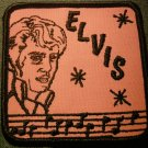 ELVIS PRESLEY sew-on PATCH pink & black VINTAGE