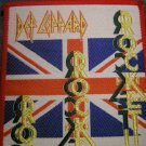 DEF LEPPARD sew-on PATCH Rocket logo VINTAGE