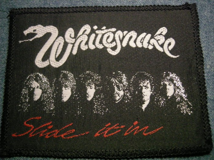 WHITESNAKE sew-on PATCH Slide It In band pic VINTAGE
