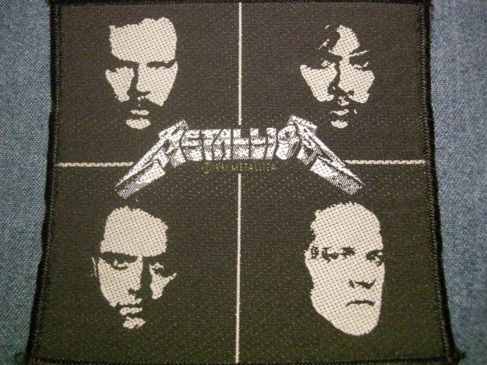 METALLICA sew-on PATCH band faces jason newsted IMPORT