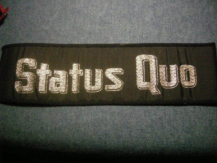 STATUS QUO sew-on PATCH glitter logo strip JUMBO VINTAGE