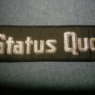 STATUS QUO sew-on PATCH glitter logo strip JUMBO VINTAGE