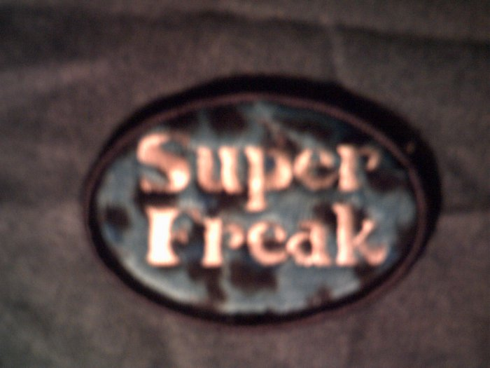 SUPER FREAK iron-on PATCH hot topic rick james NEW!