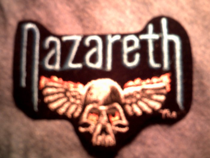 NAZARETH iron-on PATCH classic logo skull VINTAGE