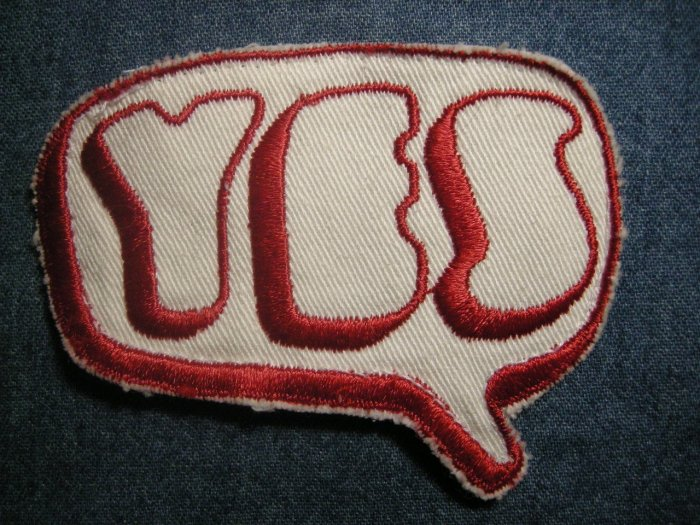 YES sew-on PATCH 1st album logo VINTAGE