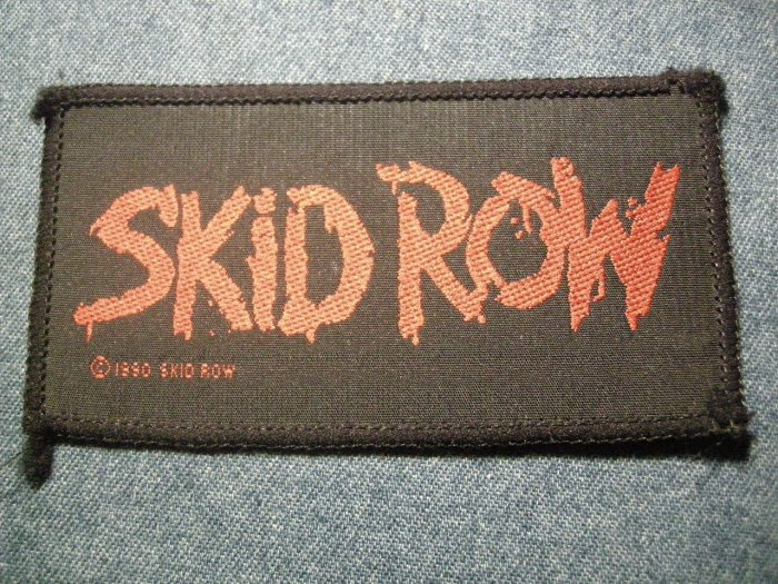 SKID ROW sew-on PATCH red logo VINTAGE!