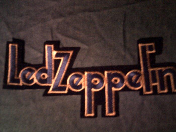 LED ZEPPELIN iron-on PATCH 2nd album logo VINTAGE JUMBO!