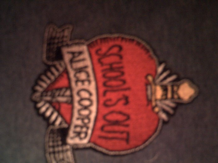 ALICE COOPER iron-on PATCH School's Out logo HTF