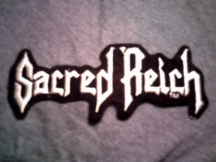 SACRED REICH iron-on PATCH classic white logo metal VINTAGE