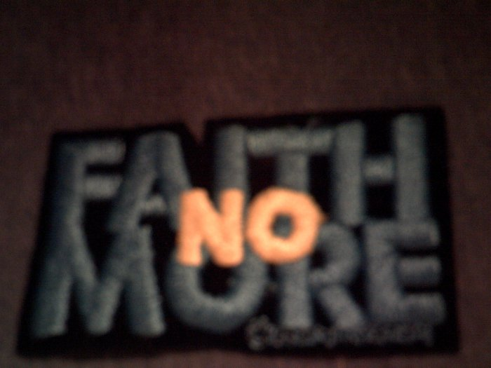 FAITH NO MORE iron-on PATCH logo VINTAGE