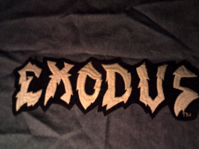 EXODUS iron-on PATCH green logo metal VINTAGE JUMBO!