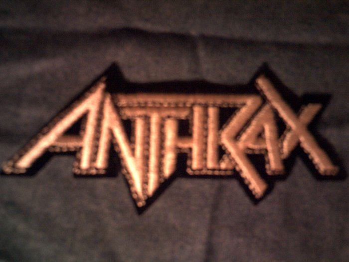 ANTHRAX iron-on PATCH classic gold logo VINTAGE