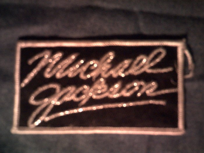 MICHAEL JACKSON iron-on PATCH 80s logo VINTAGE