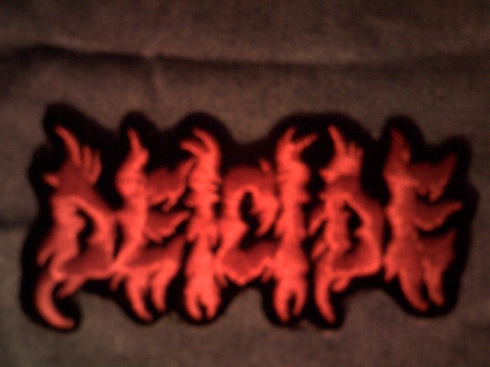 DEICIDE iron-on PATCH red logo metal VINTAGE