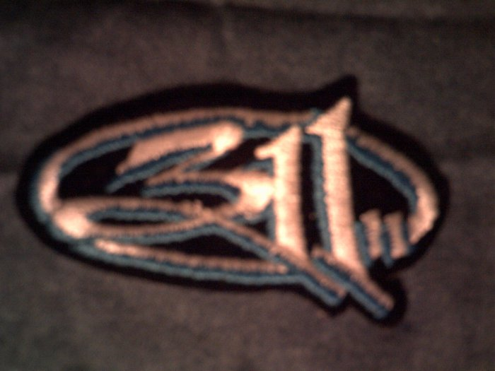 311 iron-on PATCH three eleven blue logo VINTAGE