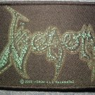 VENOM sew-on PATCH green logo metal IMPORT