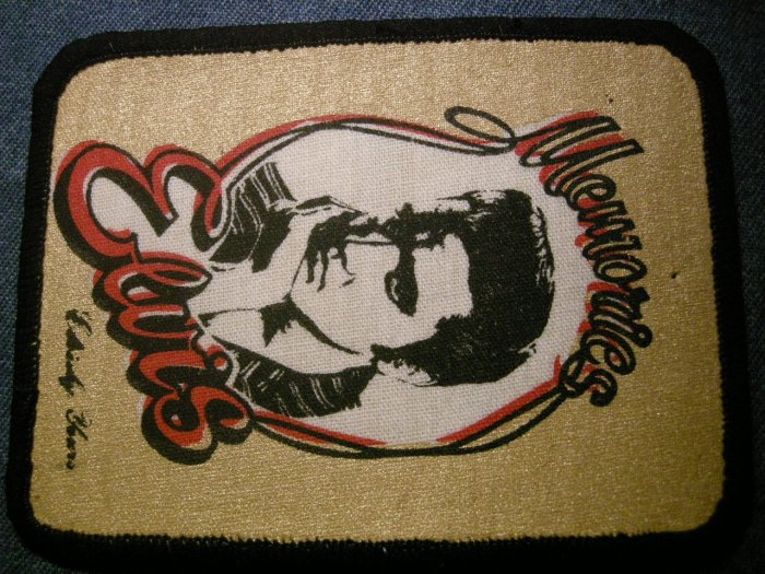ELVIS PRESLEY sew-on PATCH Memories of Elvis VINTAGE