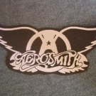 AEROSMITH sew-on PATCH B&W wings logo import HTF!