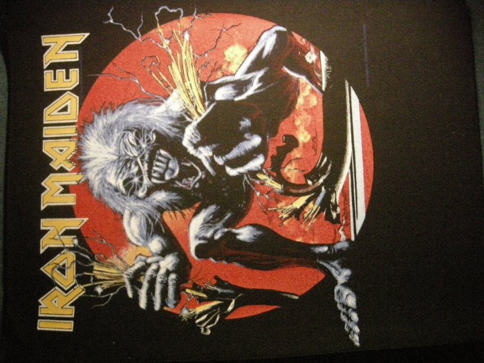 IRON MAIDEN BACKPATCH Real Live One eddie patch VINTAGE