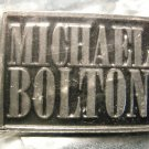 MICHAEL BOLTON METAL PIN logo badge IMPORT SALE